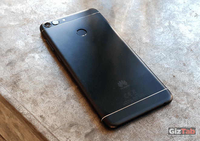 Acabados y detalle de la cara posterior del Huawei P smart