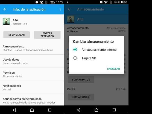 Cómo pasar app a SD con Android