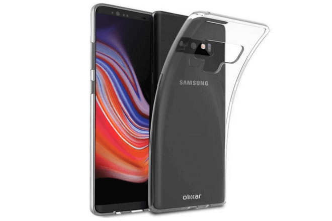 Foto de funda transparente como accesorio del Galaxy Note 9