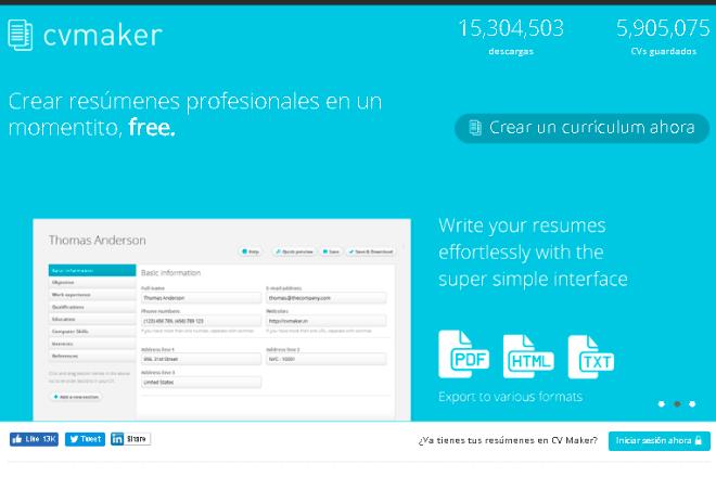 CV Marker cómo hacer un currículum vitae desde el Smartphone