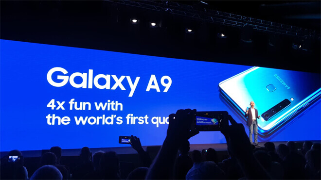 Galaxy A9 es oficial el móvil con cuatro cámaras
