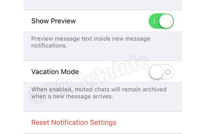 cómo activar el modo vacaciones de WhatsApp