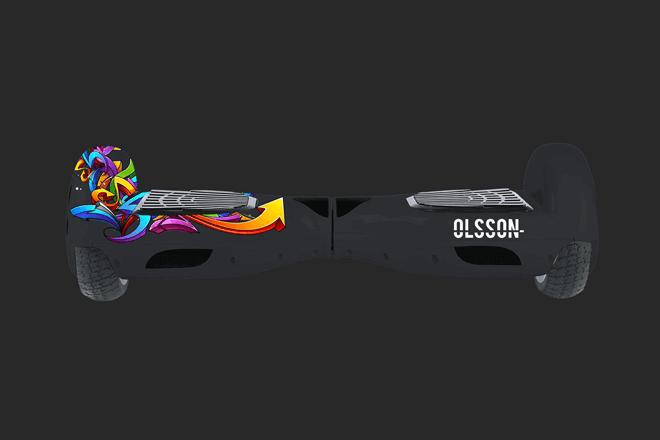 El hoverboard Olsson Racing de Olsson and Brothers, cuenta con una gran potencia suministrada por dos motores que rinden a un máximo de 350w