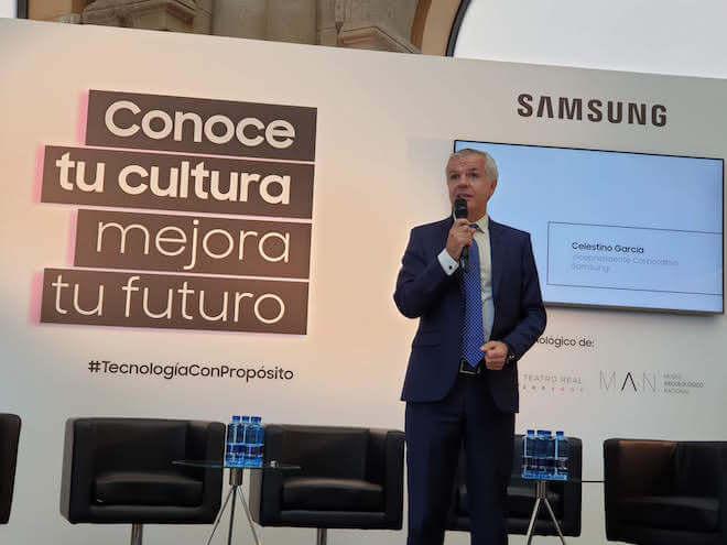 Celestino García, vicepresidente corporativo de Samsung, en el Foro organizado como parte de Tecnología con Propósito