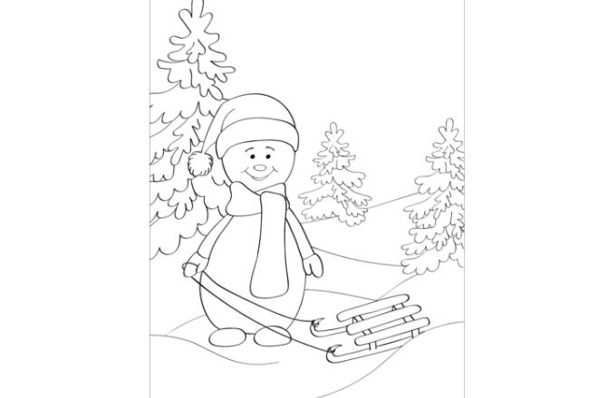 muñeco de nieve para colorear