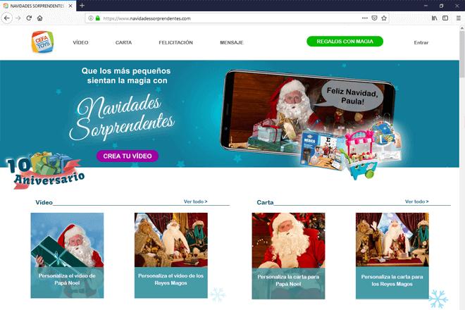 página web navidadessorprendentes.com