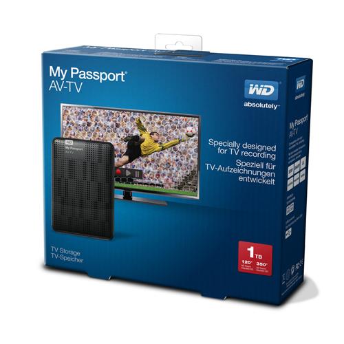 My Passport AV-TV de WD simplifica la grabación multimedia desde televisores