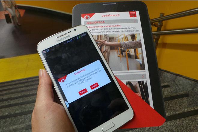 Los libros solo pueden descargarse desde una estación de la Línea 2 del Metro de Madrid, pero luego puedes leerlos offline