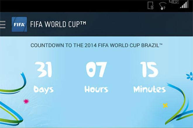 App de la FIFA para seguir el Mundial de Brasil 2014 tiene fallos