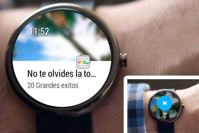 Aplicación Android Wear: Intelygenz ajusta YES.FM en tu muñeca