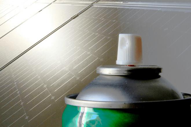 Ahorro energético: Spray para convertir en panel solar cualquier superficie