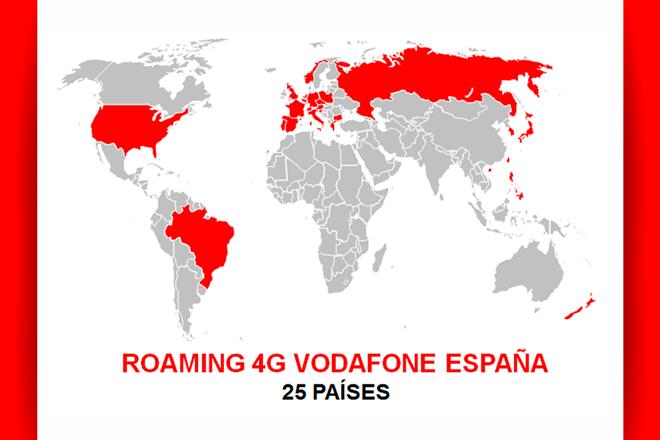 Vodafone España engrosa lista de países 4G en roaming
