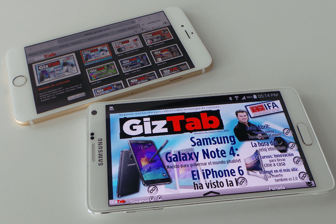 iPhone 6 Plus Vs. Samsung Galaxy Note 4: ¿Quién es el rey phablet?