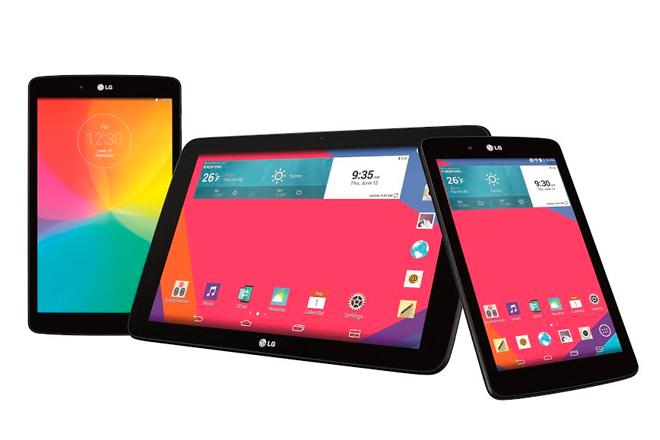LG presenta su gama G Pad con un trío de tablets