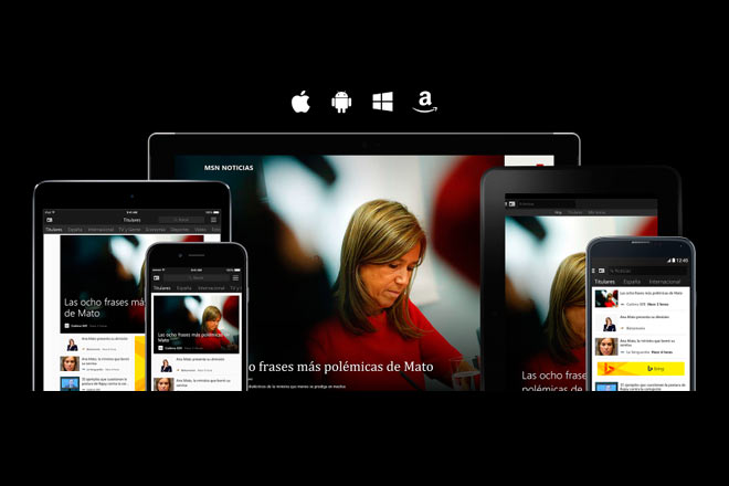 MSN apps disponibles para iOS, Android y dispositivos Amazon