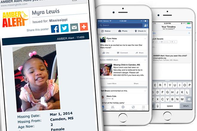 Facebook lanza Alertas ÁMBAR para dar con niños desaparecidos