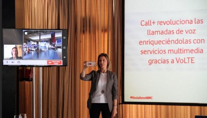 MWC15: Vodafone presenta Call+, su servicio de llamadas con contenidos multimedia