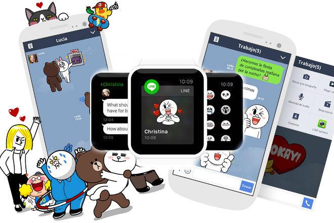 Line podrá usarse con Apple Watch