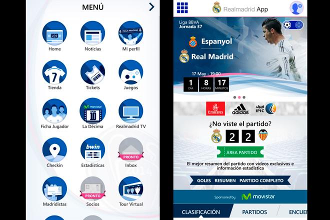 Real madrid app tienen como objetivo ser la referencia del club en el