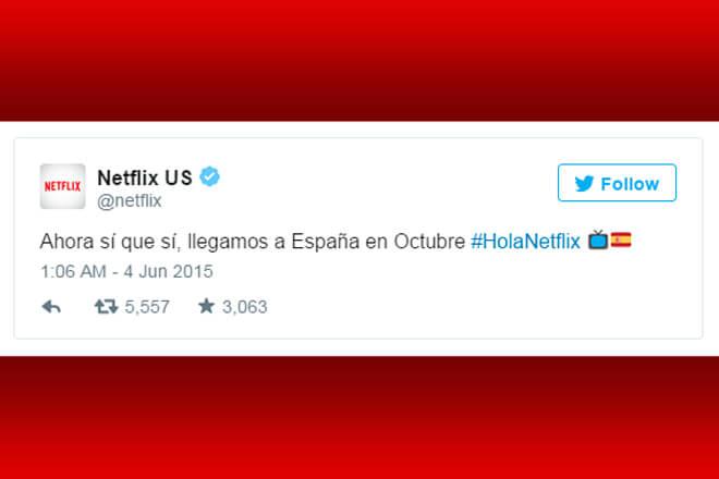 Netflix facebook españa