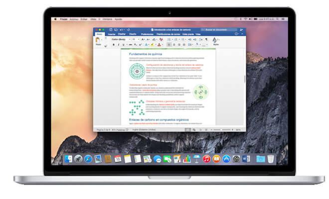 Office 2016 para Mac busca llegar a esta plataforma para dar una mejor experiencia al usuario tradicional de Office incorporando las capacidades de Mac
