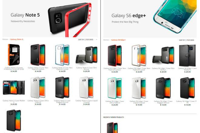 Galaxy-Note-5-Galaxy-S6-edge-plus-spigen-accesorios-precios-disponibilidad-web
