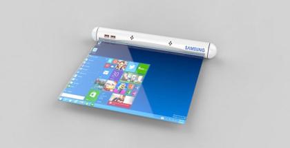 La tablet del futuro será enrollable, y llegaría con Samsung