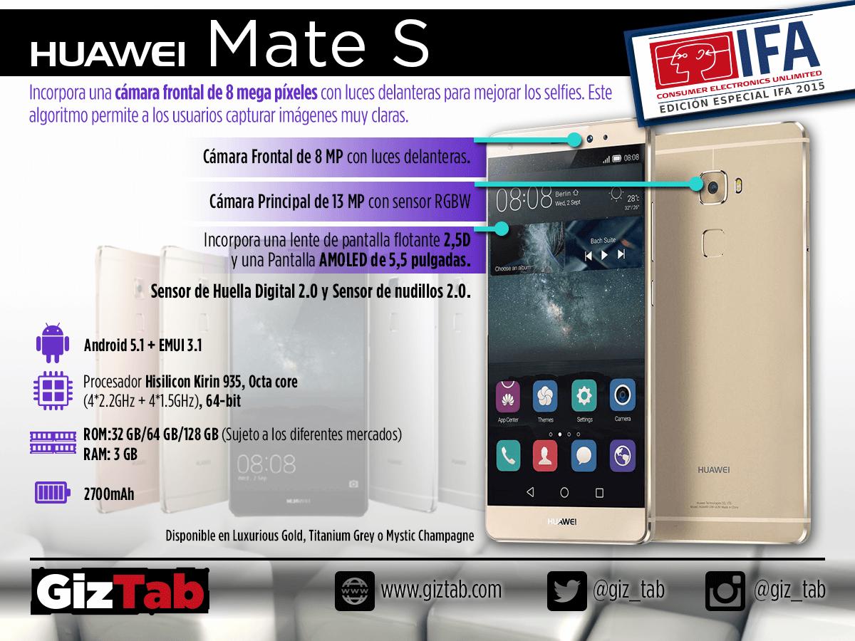 Todo sobre el Huawei Mate S: Características, precio y más