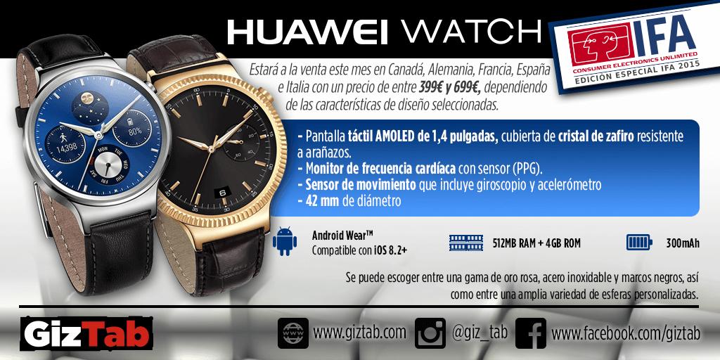Huawei Watch: Caracteristicas y especificaciones