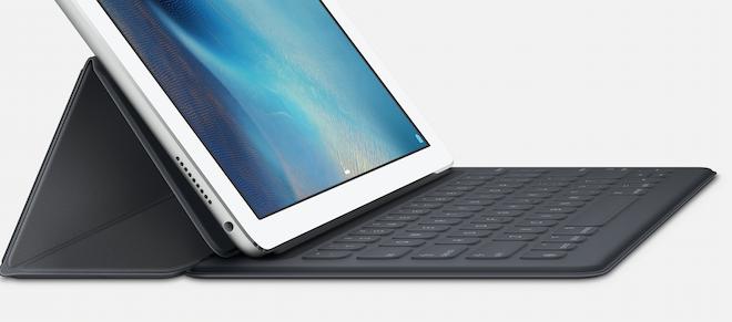 Smart Keyboard de Apple lleva aún más lejos la utilidad del iPad Pro con un teclado de tamaño estándar, fino y resistente, diseñado para llevarlo a todas partes.