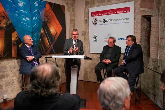 Arte y tecnología: Obra de Gaudí se exhibe con innovaciones de Samsung
