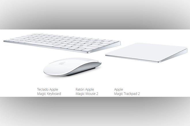 Nueva gama de accesorios inalámbricos, integrada por el teclado Magic Keyboard, el ratón Magic Mouse 2 y el Magic Trackpad 2