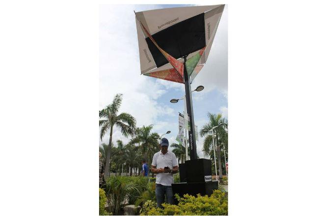 Cargador Solar Urbano de Panasonic