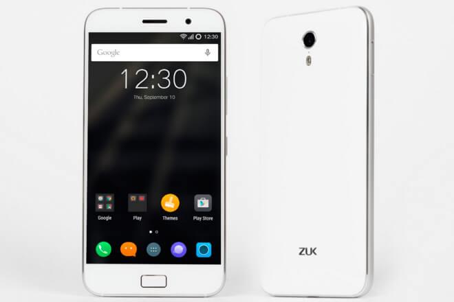 ZUK Z1 –a 309.90 dólares- incorpora pantalla HD de 5.5 pulgadas (resolución 1920x1080), chip Snapdragon 801, sensor de huella dactilar, 3GB de RAM, 64GB de almacenamiento, soporte de doble tarjeta SIM, batería de 4000mAh y soporte de cargador rápido.