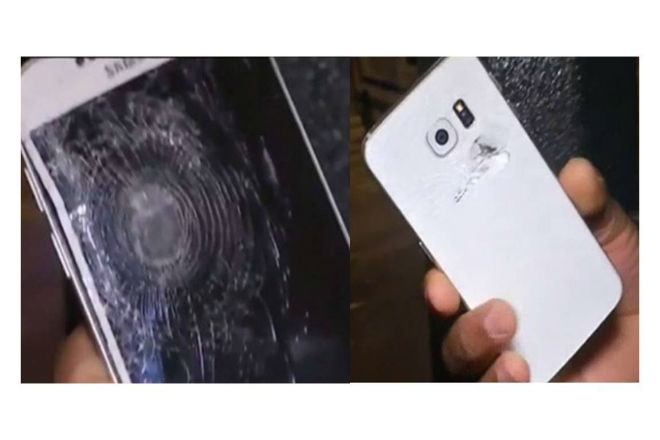 Samsung Galaxy S6 impactado