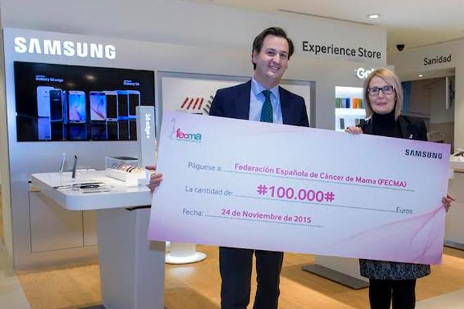 Samsung dona 100 mil euros a la lucha contra el cáncer de mama