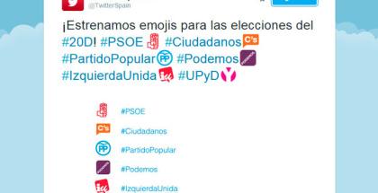 Las elecciones españolas del 20D toman Twitter con nuevos emojis