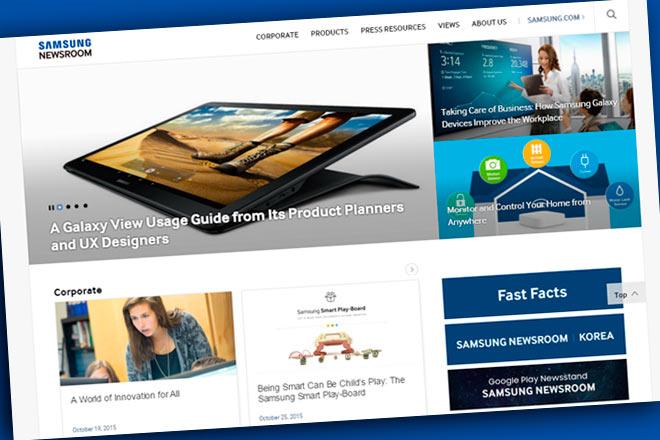 Conoce a Samsung Newsroom, el nuevo portal de la coreana que ofrece contenidos para todos