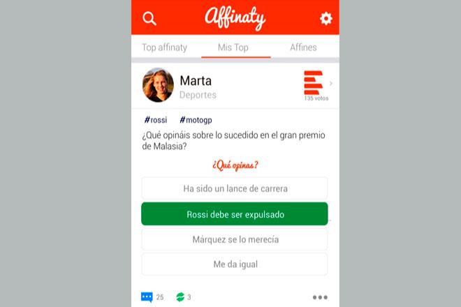 El diseño sencillo caracteriza a esta app.