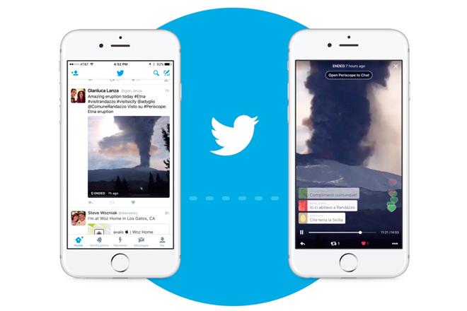 Ahora, es posible que los usuarios reproduzcan las emisiones de Periscope directamente en su timeline de Twitter. Se han reemplazado los enlaces de las emisiones por la reproducción automática dentro de los tuits.