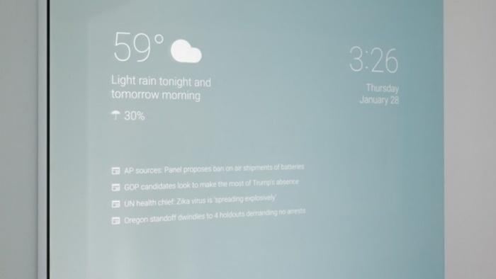 Trabajador de Google desarrolla un espejo inteligente con Android