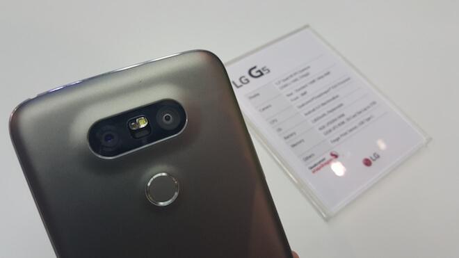 LG G5 doble camara trasera lente