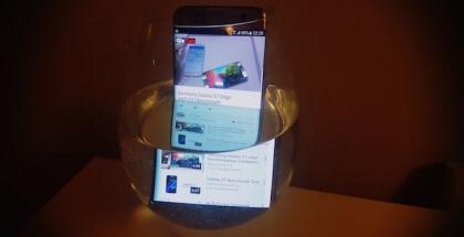 Galaxy S7 Edge en el agua