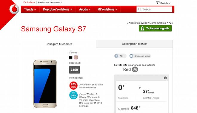 Samsung Galaxy S7 Vodafone Oferta