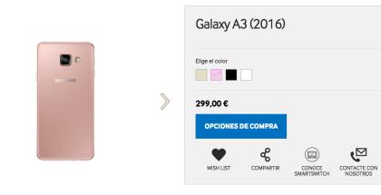 Samsung galaxy a5 color rosa