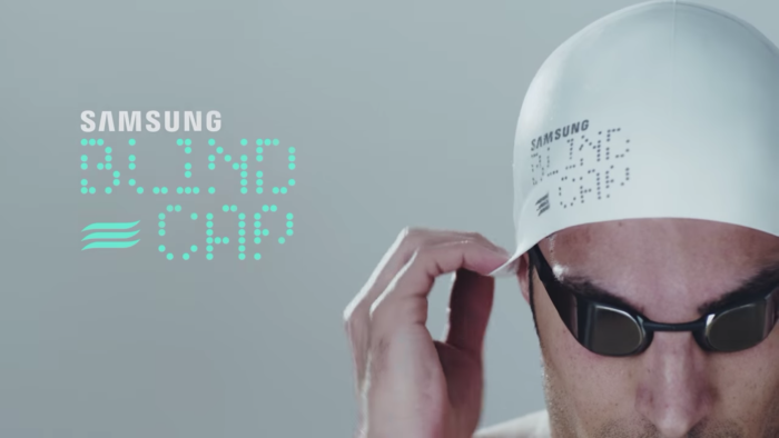 Blind Cap: el gorro de natación de Samsung para atletas invidentes