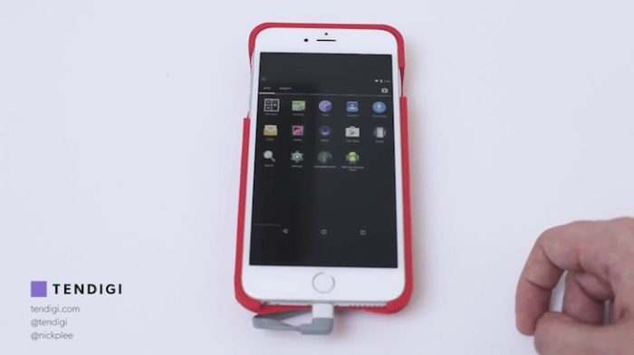 ¿Android en un iPhone? una carcasa de Tendigi lo logró