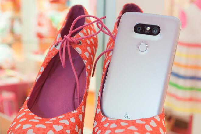 LG G5 y LG Friends en rosa