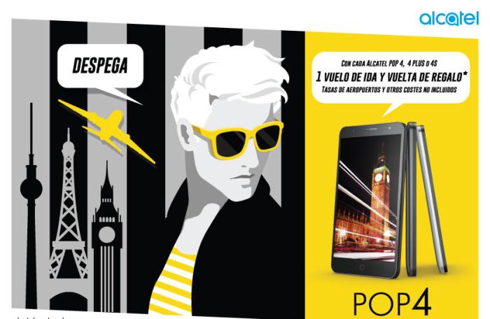 Comprar Alcatel POP 4 tiene de premio un viaje por Europa