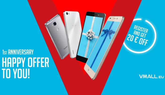 Ofertas para comprar móviles Honor y Huawei por aniversario de vMall